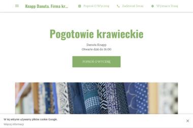 Knapp Danuta. Firma krawiecka - Firmy odzieżowe Gostyń