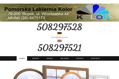 Pomorska Lakiernia Kolor - Okna PCV Słupsk