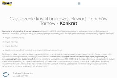 Konkret - czyszczenie kostki brukowej, impregnacja - Tapicer Tarnów