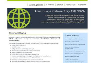 FMJ Nova. Konstrukcje Stalowe. Producent konstrukcji stalowych, obróbka metali - Hydraulik Żory