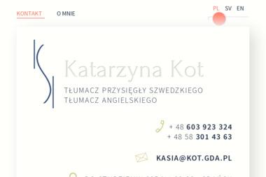 Tłumacz Języka Szwedzkiego i Angielskiego. Katarzyna Kot - Tłumaczenia symultanicznie Gdańsk