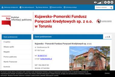 Kujawsko-Pomorski Fundusz Poręczeń Kredytowych Sp. z o.o. - Leasing Toruń