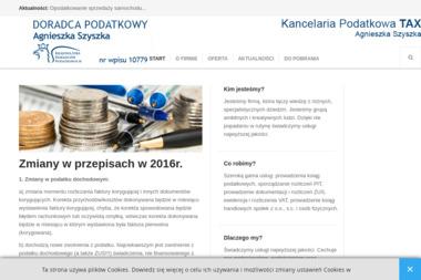 Tax. Kancelaria Podatkowa Agnieszka Szyszka - Prowadzenie Ksiąg Rachunkowych Leszno