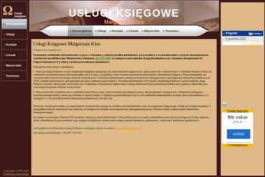 Usługi Księgowe Małgorzata Klos. Biuro księgowe, księgi rachunkowe - Ubezpieczenia OC Radzymin