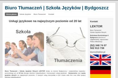 Lektor-Szkoła Języków Obcych i Biuro Tłumaczeń - Tłumaczenia przysięgłe Bydgoszcz
