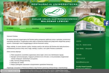 Restauracja Uniwersytecka Waldemar Lewicki - Gastronomia Bydgoszcz