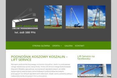 Lift Service Wojciech Włodyka - Wypożyczalnia sprzętu budowlanego Koszalin