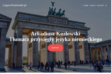 Logos Arkadiusz Kozłowski. Tłumacz przysięgły języka niemieckiego, tłumacz techniczny - Biuro Tłumaczeń Sępólno Krajeńskie