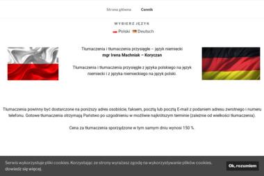 Tłumaczenia Język Niemiecki Irena Machniak Koryczan - Biuro Tłumaczeń Chrzanów