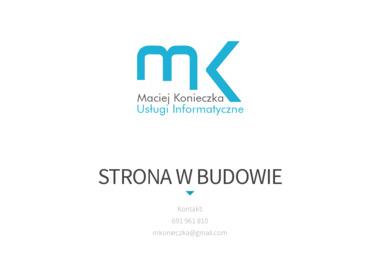 Usługi Informatyczne Maciej Konieczka. Strony internetowe, serwis komputerów, projektowanie grafiki - Strony internetowe Barlinek