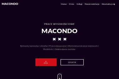 Macondo - Prace Wysokościowe - Odśnieżanie dachów Toruń
