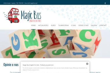 Magic Bus Studio Języka Angielskiego i Biuro Tłumaczeń Audiowizualnych - Nauczyciele angielskiego Kalisz