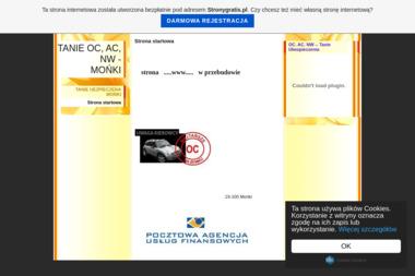 Ubezpieczenia-Moje Towarzystwo Ubezpieczeń Pauf - OC Mońki