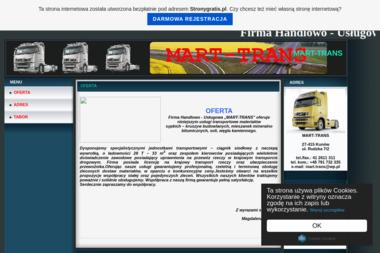 Firma Handlwo Usługowa Mart Trans Magdalena Kanios - Transport Kunów