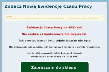 Maszto Tomasz Pluta. Strony www, ewidencja czasu pracy - Strony internetowe Starogard Gdański