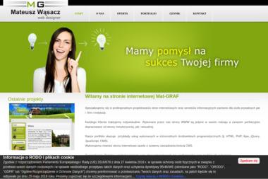 Studia Reklamy Mat-Graf. Mateusz Wąsacz - Strony internetowe Tomaszów Lubelski