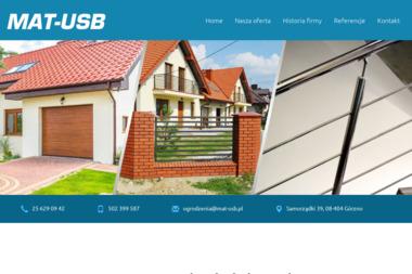 Mat-Usb Ślusarstwo-Betoniarstwo - Konstrukcje Inżynierskie Samorządki
