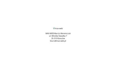Max-Web Marcin Weremczuk - Strony internetowe Łężany