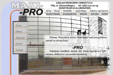 Zakład Wdrożeń i Inwestycji Maxi Pro Zdzisław Cyprowski - Stolarka Okienna PCV Piła
