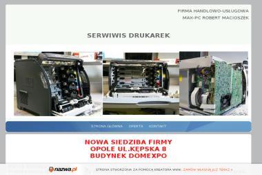 Robert Macioszek Firma Handlowo Usługowa Max Pc - Naprawa Komputerów Zimnice Wielkie