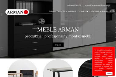 Arman Meble. Meble biurowe - Projektowanie wnętrz Lublin