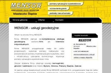 Michał Skrzydło Mensor. Usługi geodezyjno-kartograficzne - Geodeta Miasteczko Śląskie