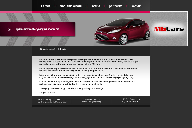 MGCars Grzegorz Duda - Leasing samochodu Żelistrzewo