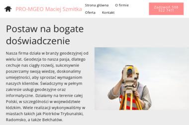 Usługi Geodezyjno-Informatyczne Maciej Szmitka. Geodeta, usługi geodezyjne - Geodeta Piotrków Trybunalski