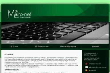 Mikro-Net Marek Niedźwiecki - Strony internetowe Przemyśl