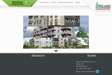 Milano Development Sp.z o.o. - Mur z Cegły Oleśnica