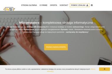MS Computers. Usługi Informatyczne - Pozycjonowanie stron Dynów