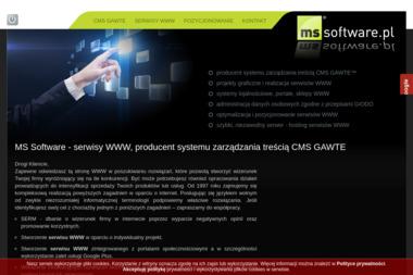 Marek Szopiński Ms Software - Pozycjonowanie stron Gdynia