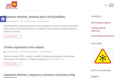 Miejski Zakład Komunikacji w Starogardzie Gdańskim - Przewóz osób Starogard Gdański