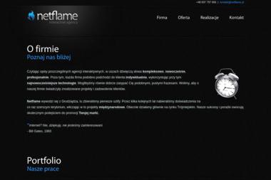 Agencja Interaktywna Netflame. Tworzenie stron www, webdesign - Identyfikacja wizualna Grudziądz