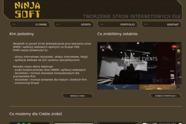 Ninjasoft. Tworzenie stron internetowych, tworzenie aplikacji - Strony internetowe Ełk