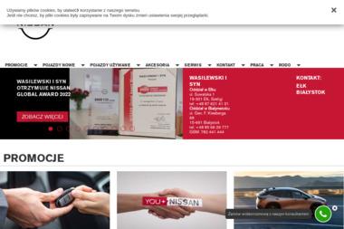 Wasilewski i Syn. Salon Nissan, serwis samochodowy - Leasing Białystok