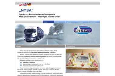 Nysa Spedycja Pośrednictwo w Transporcie Międzynarodowym i Krajowym Jolanta Urban - Firma Transportowa Gubin