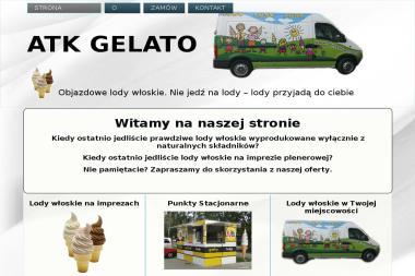 ATK Gelato. Lody włoskie, lody na festynie - Firma Gastronomiczna Witaszyce