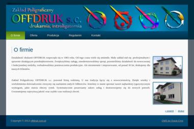 Zakład Poligraficzny Offdruk Adam Kazimierczuk Anna Kazimierczuk S.C. - Druk katalogów i folderów Łomianki
