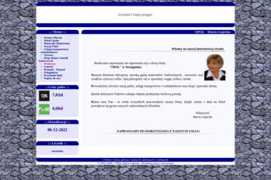 Skład Opału i Materiałów Budowlanych Usługi Transportowo Rozładunkowe Maria Gajecka - Skład Budowlany Strzegom
