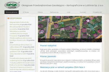 Okręgowe Przedsiębiorstwo Geodezyjno Kartograficzne w Lublinie Sp. z o.o. - Geodeta Lublin