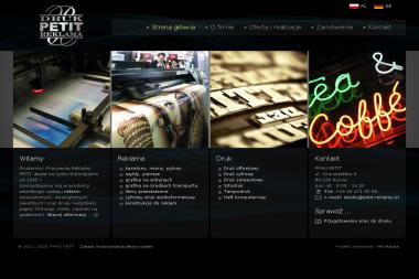 PETIT drukarnia, reklamy, banery, litery 3D - Drukarnia Rumia