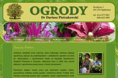 Ogrody Dariusz Pietrakowski - Agencja interaktywna Kozłowo