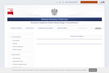Powiatowy Inspektorat Nadzoru Budowlanego w Krasnymstawie - Nadzór budowlany Krasnystaw