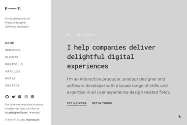 Piotr Fedorczyk Ux Design Consultant - Strona www Elbląg