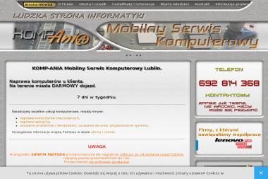 Komp-Ania Piotr Dalach. Serwis komputerowy, pogotowie komputerowe, usługi informatyczne, - Serwis Laptopów Lublin