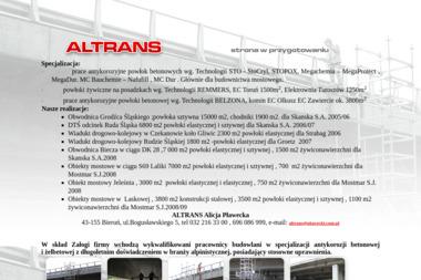 Altrans - Budowa domów Bieruń