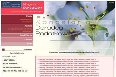 Kancelaria Doradztwa Podatkowego Rynkiewicz Małgorzata - Usługi finansowe Nowa Sól