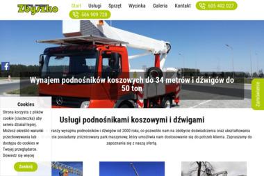 ZHU Zbyszko. Podnosniki Koszowe - Prace wysokościowe Piszkowice