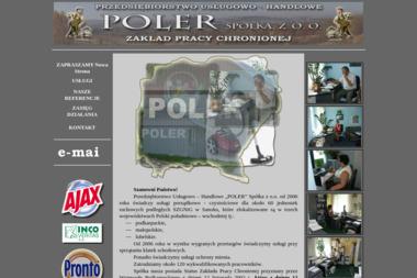 """Przedsiębiorstwo Usługowo – Handlowe """"POLER"""" spółka z o. o. - Sprzątanie biur Sanok"""
